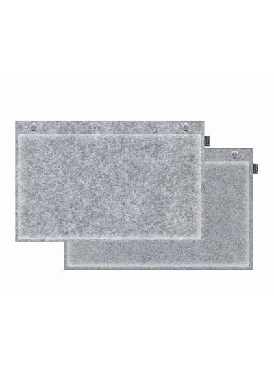 Sale:  Wandkissen 50x30cm runde Ecken grau/graumeliert