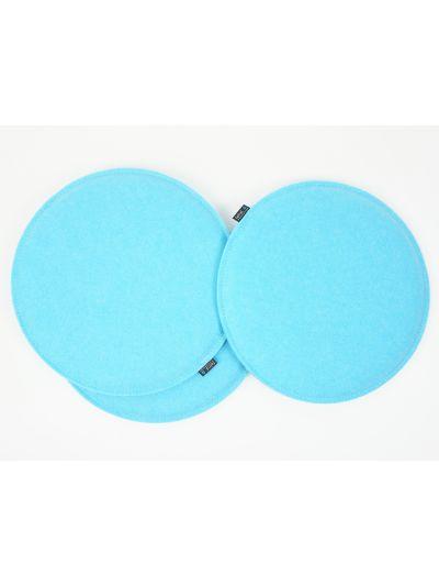 Sale: Kissen rund gepolstert Ø38cm himmelblau