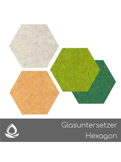 Eco Filz Glasuntersetzer Hexagon
