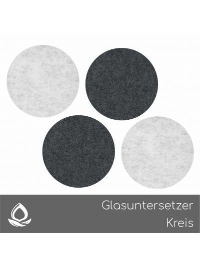 Eco Filz Glasuntersetzer Kreis