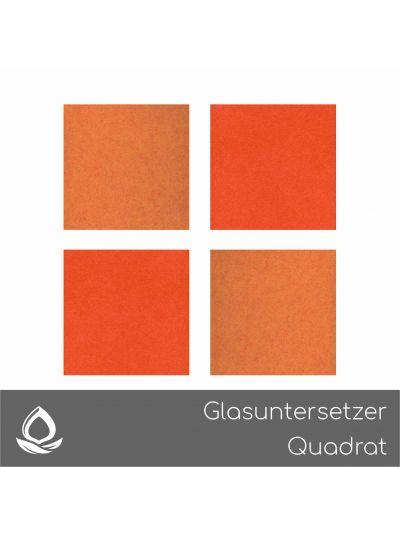 Eco Filz Glasuntersetzer Quadrat - gerade Ecken