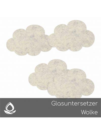 Eco Filz Glasuntersetzer Wolke - Clouds