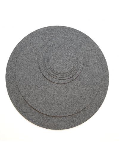 Eco Filz Auflage individueller Kreis - rund/oval - einlagig - Simple