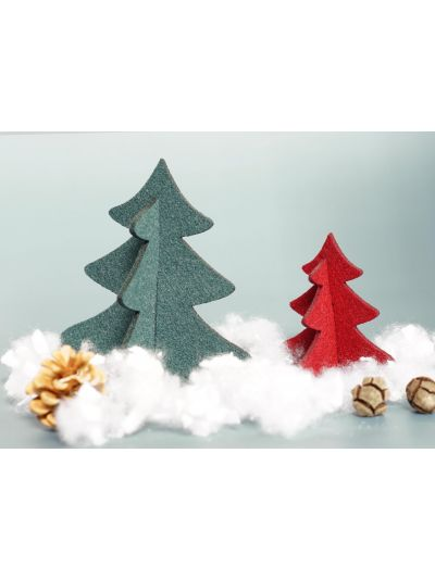 Eco Filz 2er Set Weihnachtsbaum 3D - zum hinstellen