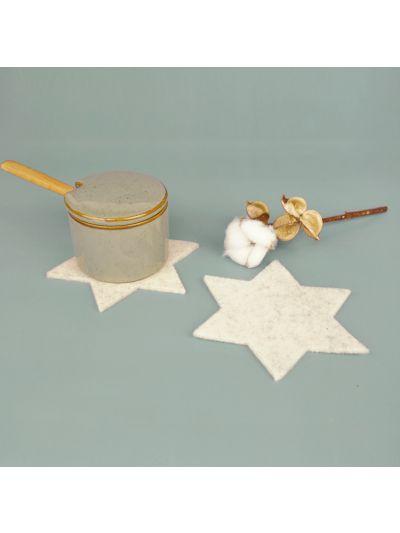 Eco Filz Glasuntersetzer Stern Set von 4
