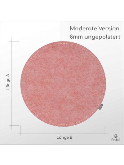 Eco Filz Auflage individueller Kreis - rund/oval - Moderate