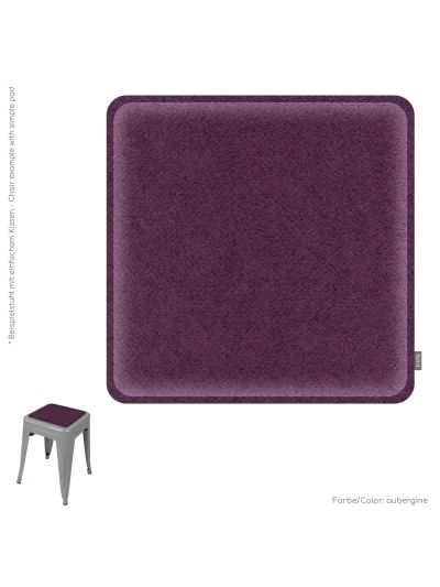 Eco Filz Kissen universal quadrat 35x35cm