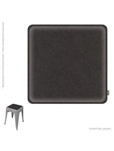 Eco Filz Kissen universal quadrat 38x38cm