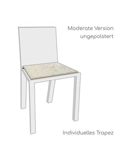 Stuhlauflage nach Maß - Trapezform - 8mm vernäht - Moderate