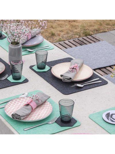 Eco Filz Tischset - Platzset - runde oder gerade Ecken