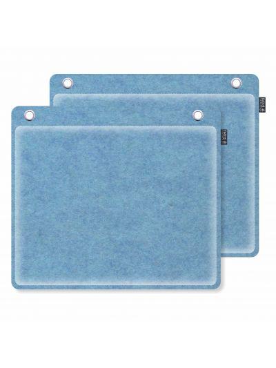 Sale:  Wandkissen 40x35cm runde Ecken lichtblau