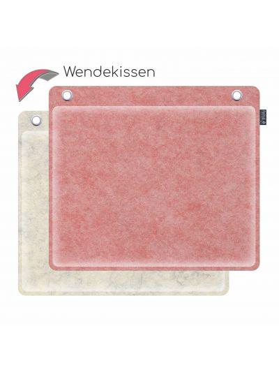 Sale:  Wandkissen 40x35cm runde Ecken natur/pastellrosa