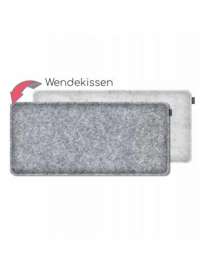 Sale: Bankauflage gepolstert 30x65cm marmor/graumelirt