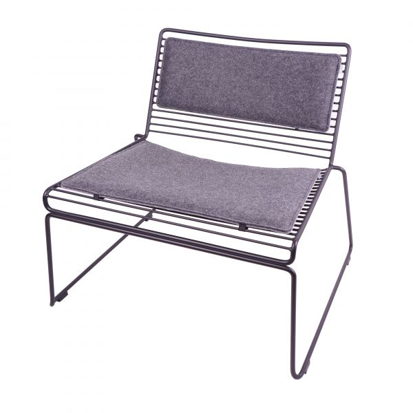 Befestigungsb/ändern schwarz HEE Lounge Chair noe gepolstertes Eco Filz Sitzkissen geeignet f/ür Hay inkl